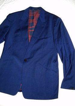 VIVIENNE WESTWOOD navy blue wool James blazer jacket L