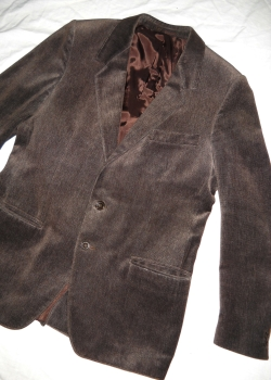 Vintage brown velvet slim fit blazer jacket M L