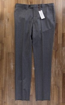 LUCIANO BARBERA gray flannel wool trousers - Size 38 US / 54 EU - NWT