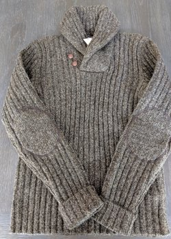 RRL Shawl Collar Wool Sweater, Size M