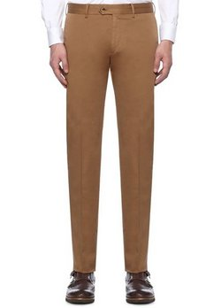 CARUSO light brown cotton trousers - Size 36 US / 52 EU - NWT