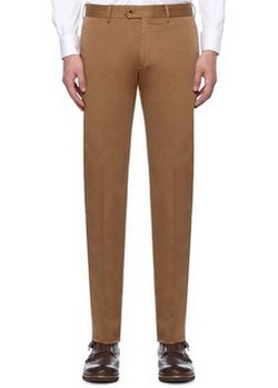 CARUSO light brown cotton trousers - Size 34 US / 50 EU - NWOT
