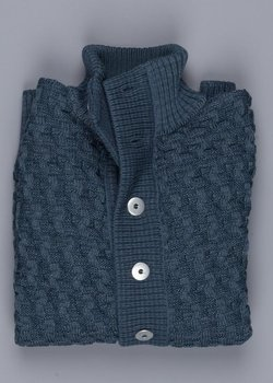 PRICE DROP! NWT S.N.S. HERNING STARK SLIM FIT CARDIGAN – XXL(FITS LIKE A L/ XL) BLUE GENE