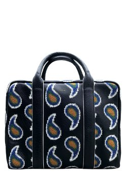 SOLD❗️PAUL SMITH Leather Folio Bag Paisley-Embroidered Briefcase Holdall Blue