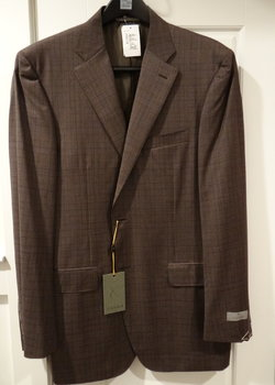 PRICE DROP! NWT Canali Brownish Grey Check Wool Sport Coat 52L EU 42L US $1695