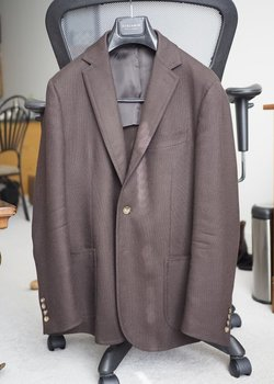 Stile Latino (Attolini) 40R Brown Wool/Cashmere SC