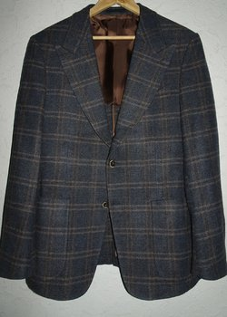 SUITSUPPLY ORMEZZANO WOOL PLAID  BLAZER