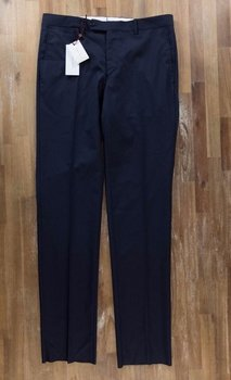 LUCIANO BARBERA navy blue wool dress trousers - Size 34 US / 50 EU - NWT