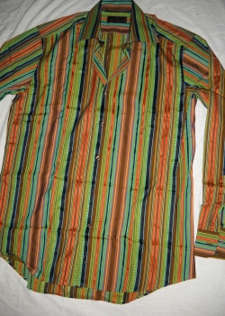 Brand New ETRO men's striped long sleeve dress shirt size 40 (M)