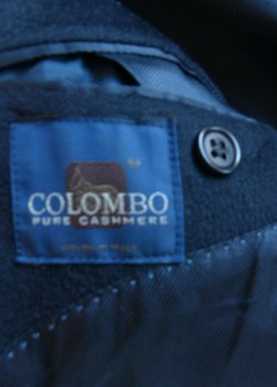 Colombo 100% Cashmere Navy coat size 42-  Excellent condition - Functional buttonholes