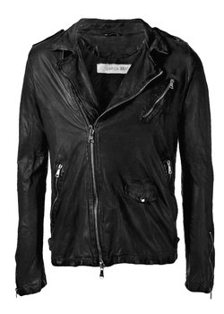 GIORGIO BRATO Black Perfecto Leather Jacket IT52/L-XL