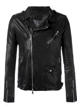 GIORGIO BRATO Black Perfecto Leather Jacket IT54/XL-XXL