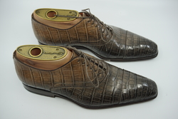 RARE! Santoni ALLIGATOR Oxford Shoes UK 5.5 F EU 39.5 $4,500