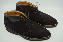 Bontoni Chukka Boot Dark Purple UK 8.5 EU 42.5