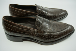 NEW GIORGIO ARMANI ALLIGATOR Loafer UK 8 EU 42 $6,500