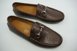 NEW GUCCI Alligator Horsebit Loafer UK 7.5 EU 41.5 $2,600