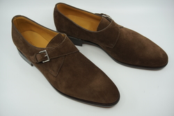 NEW John Lobb Ashill Dark Brown Suede UK 10 E 7000 $1,450