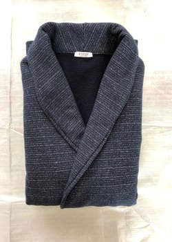 SOLD - Eidos Navy DB Knit Jacket size M