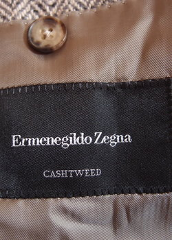 ZEGNA CASHTWEED SC 52R 100% CASHMERE