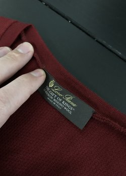 [Ended] Gift of Kings Loro Piana Red Sweater