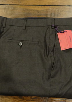 NWT Isaia Aquaspider Wool Trousers - Navy, Brown & Charcoal - Sizes 52 EU & 54 EU $495