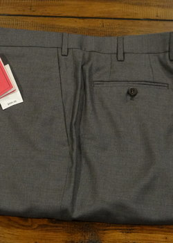 SOLD NWT Isaia Aquaspider Mid Grey Super 160's Wool Trousers Size 54 EU $595