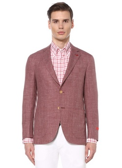 ISAIA Napoli dusty rose color wool silk linen mix sportcoat - Size 44 US / 54 EU - NWOT