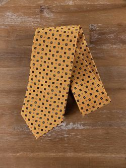 DRAKE'S of London yellow floral silk tie - NWOT