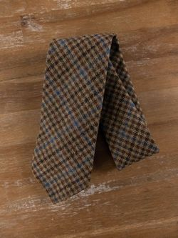 DRAKE'S of London self-tipped plaid wool cashmere mix tie - NWOT