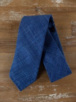 DRAKE'S of London wool silk linen mix self-tipped tie - NWOT