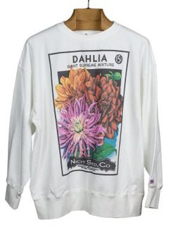 SOLD - Niche Dahlia Flower Seeds Sweatshirt size M