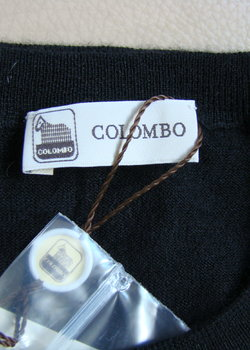 NWT Black Colombo Crew collar weater 54 (fits 42)
