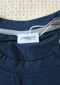 NWT Zimmerli Navy long sleeve Tshirt S (fits M or L)