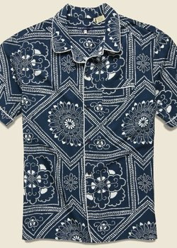 NWT Levi's Made & Crafted Blue Bandana Pajama Shirt - Size XS Men's $188 Retail