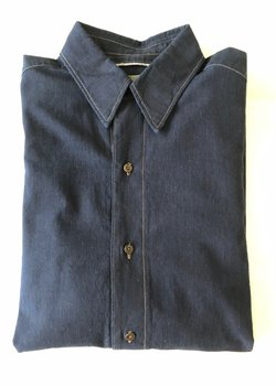 SOLD - Christophe Lemaire Denim (Indigo) Shirt size 2