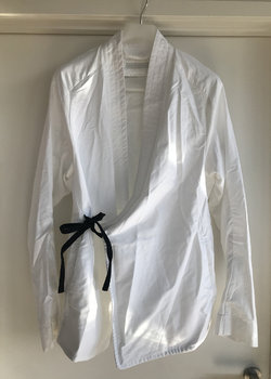 Abasi Rosborough ARC white kimono shirt