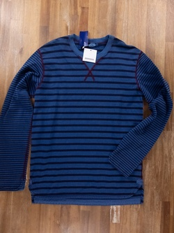 COMME DES GARCONS Junya Watanabe blue cotton sweatshirt - Size Large - NWT