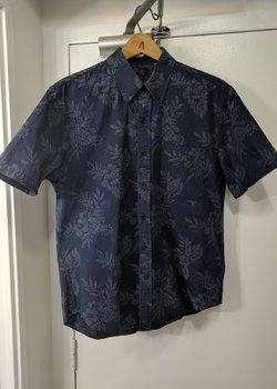 United Stock Dry Goods - Blue Short Sleeve Button Down