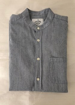 Portuguese Flannel band collar shirt size M
