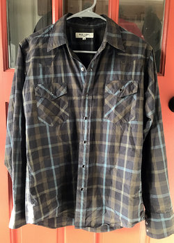 United Arrows Blue Label Western Shirt Snap Button Medium