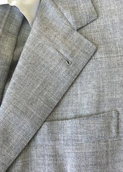 Drop 9/22:  Musella Dembech bespoke suit light grey vintage Edwin Woodhouse fresco