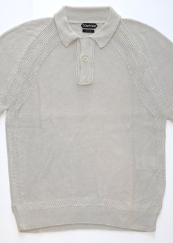 TOM FORD NWT SILK KNITTED POLO 48IT/38US