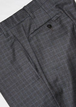 VALENTINI CHARCOAL GRAY WOOL FLANNEL PANTS, SIZE 34