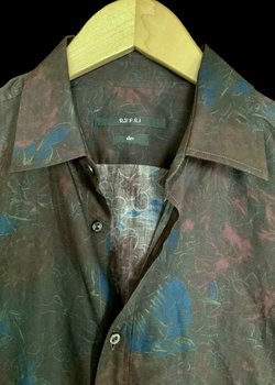 Gucci Floral Button Up Casual Dress Shirt Fitted Slim Rare 41 16 L Large