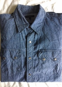 Engineered Garments Chambray Western Shirt size Medium, BNWT
