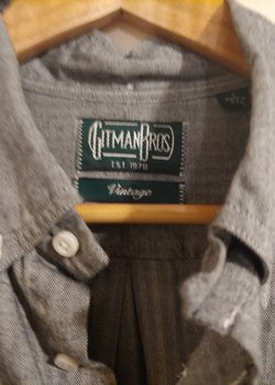 GItman Vintage Button Down Flannel - Charcoal - NWT