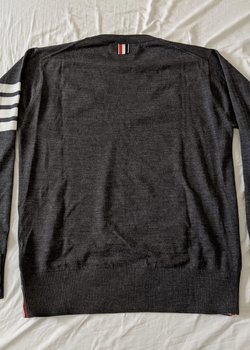 Price Drop: Thom Browne Fine Merino Wool Sweaters (Navy and Charcoal, Size 1)