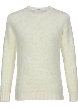 RICO Shearling Fur Effect Wool Sweater White IT48/S-M