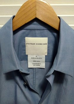 Stephen Schneider Scent Shirt in Indigo Light Blue Cotton- Size 5