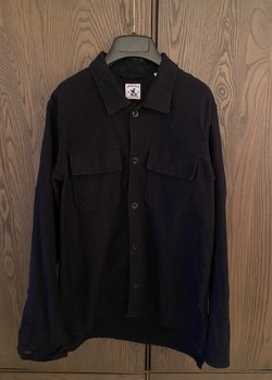 ** REDUCED PRICE Arpenteur Navy Sur-Chemise Wool Overshirt **